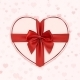Paper Heart with Red Ribbon and a Bow - GraphicRiver Item for Sale
