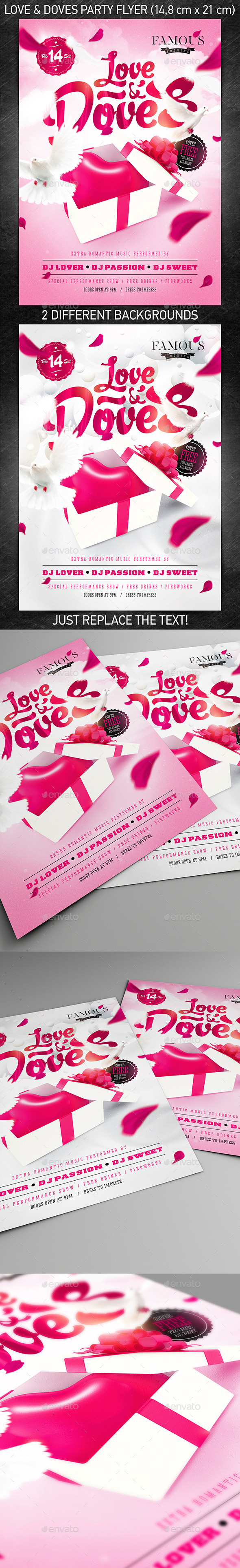GraphicRiver Love & Doves Party Flyer 10142916
