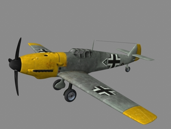Me109 Plane.OBJ - 3DOcean Item for Sale