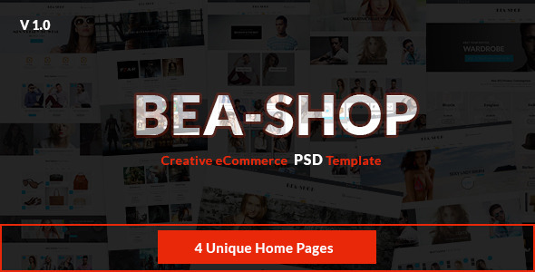 ThemeForest Beashop Creative eCommerce PSD Template 10115525