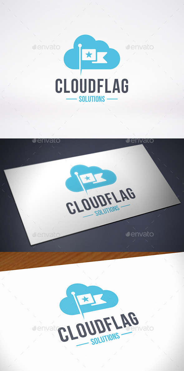 GraphicRiver Cloud Flag Logo Template 10184435