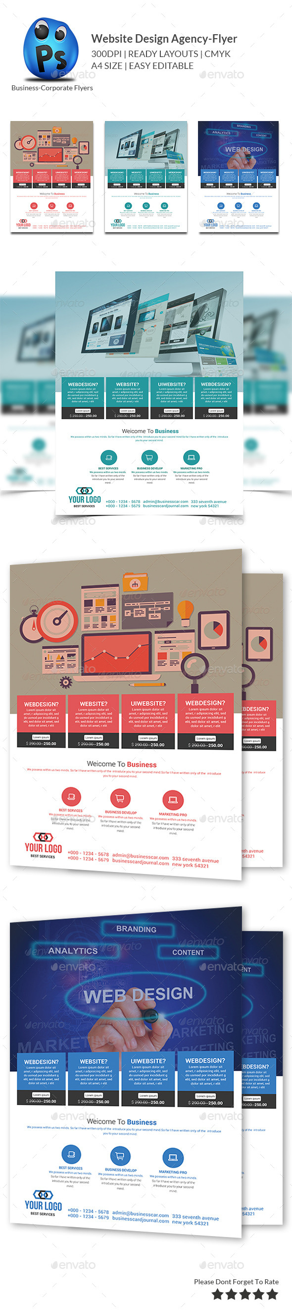 GraphicRiver Website Design Agency Flyer 10147158