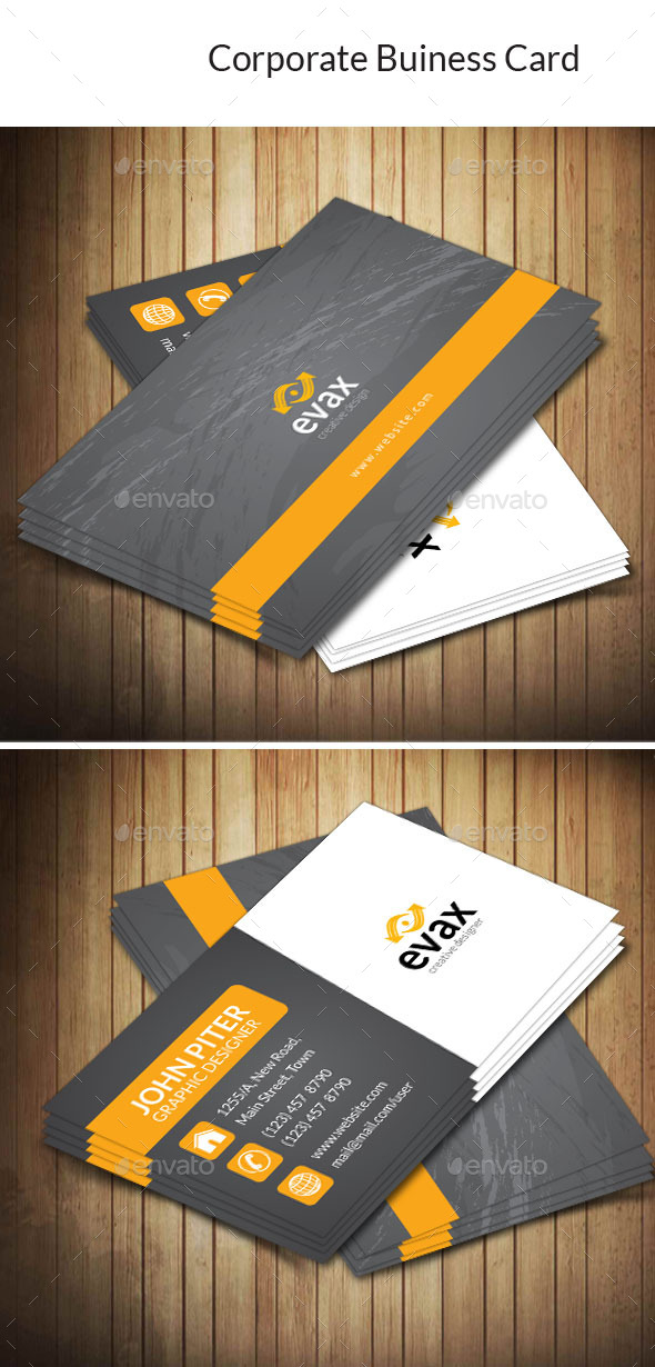 GraphicRiver Corporate Business Card 10184897