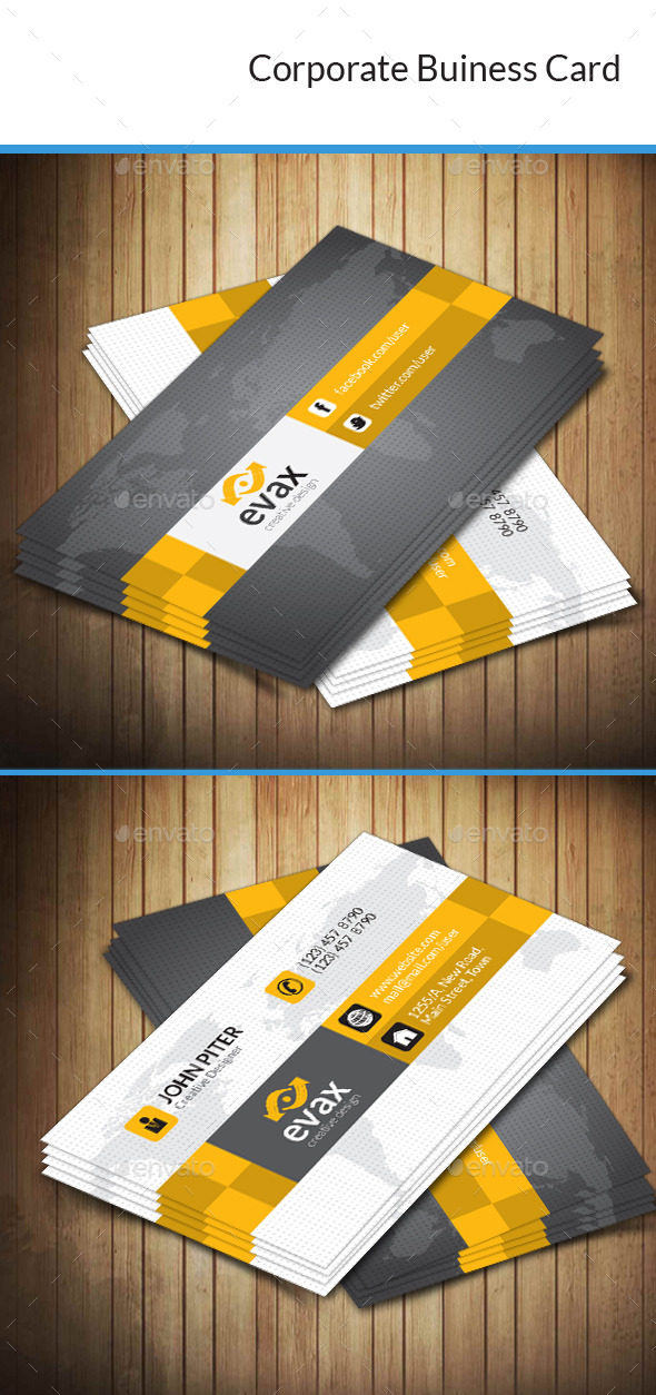 GraphicRiver Corporate Business Card 10184928
