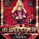Flyer Burlesque Konnekt - GraphicRiver Item for Sale