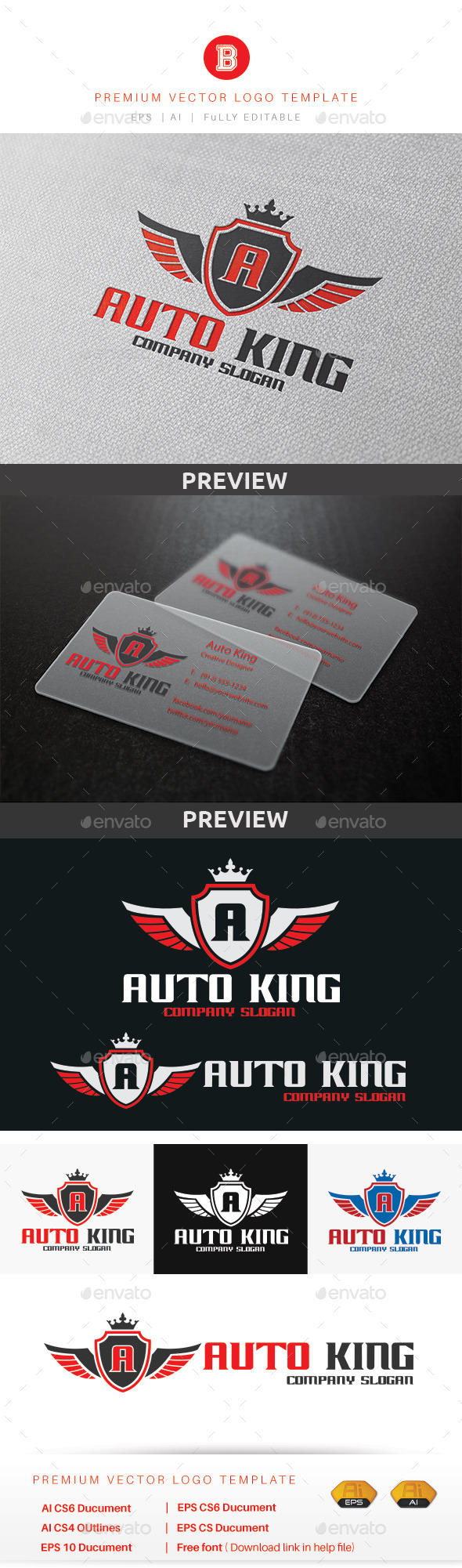 GraphicRiver Auto King Logo 10185097
