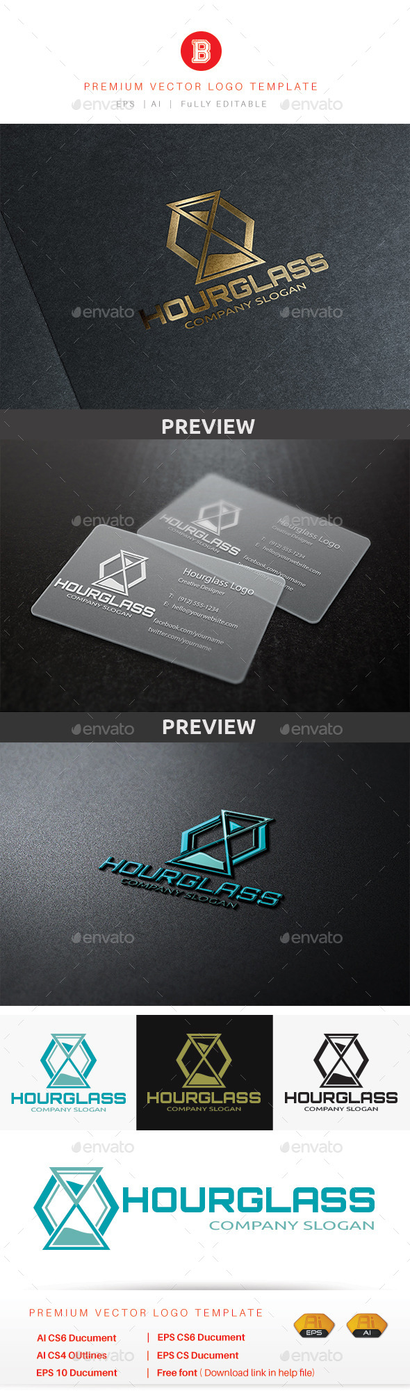 GraphicRiver Hourglass Logo 10185107