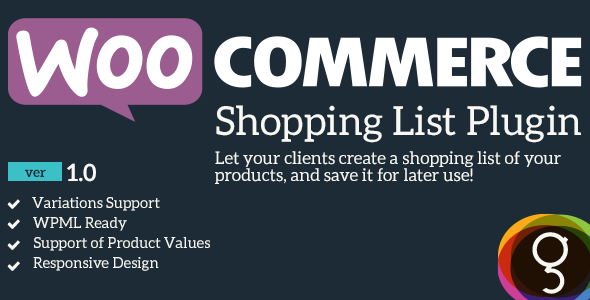 CodeCanyon WooCommerce Shopping Product List 10091513