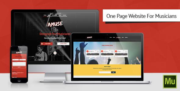 Amuse-Adobe Muse Music Template