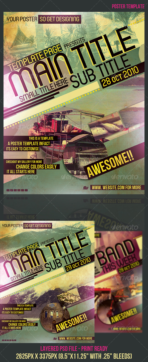 Poster Template - Miscellaneous Events