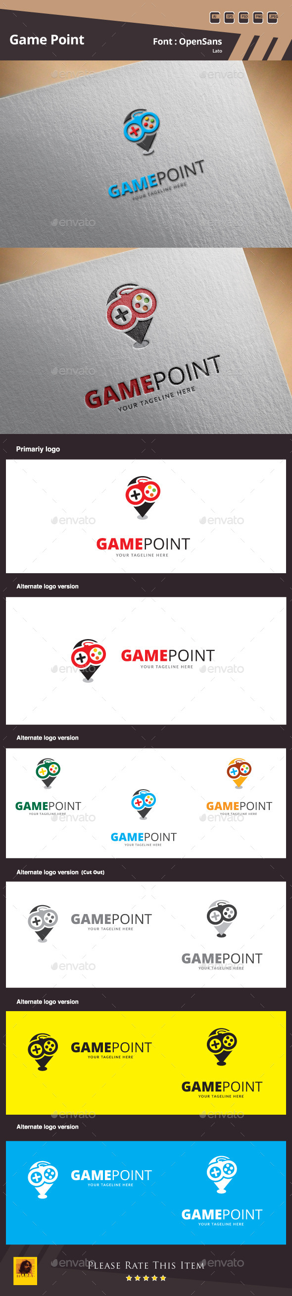 GraphicRiver Game Point Logo Template 10185129