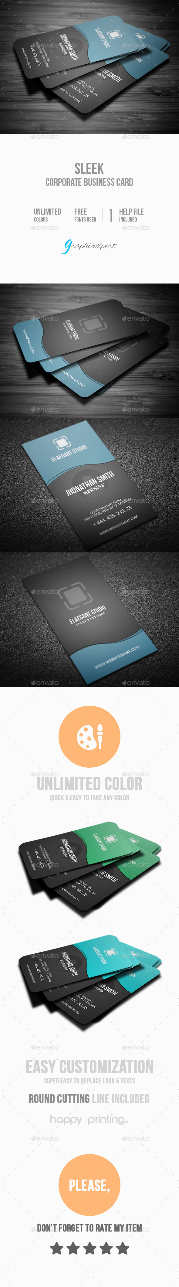 GraphicRiver Corporate Business Card 10185235
