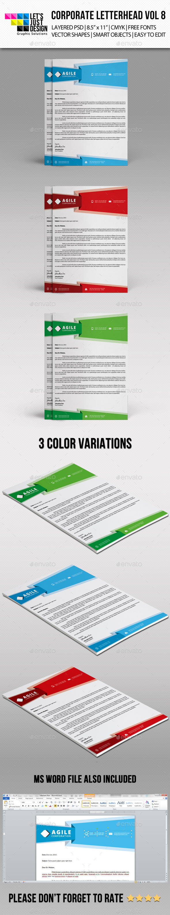 GraphicRiver Corporate Letterhead Vol 8 10145376