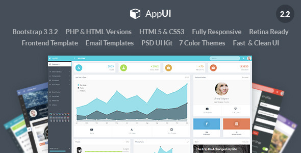 AppUI - Web App Bootstrap Admin Template - Admin Templates Site Templates