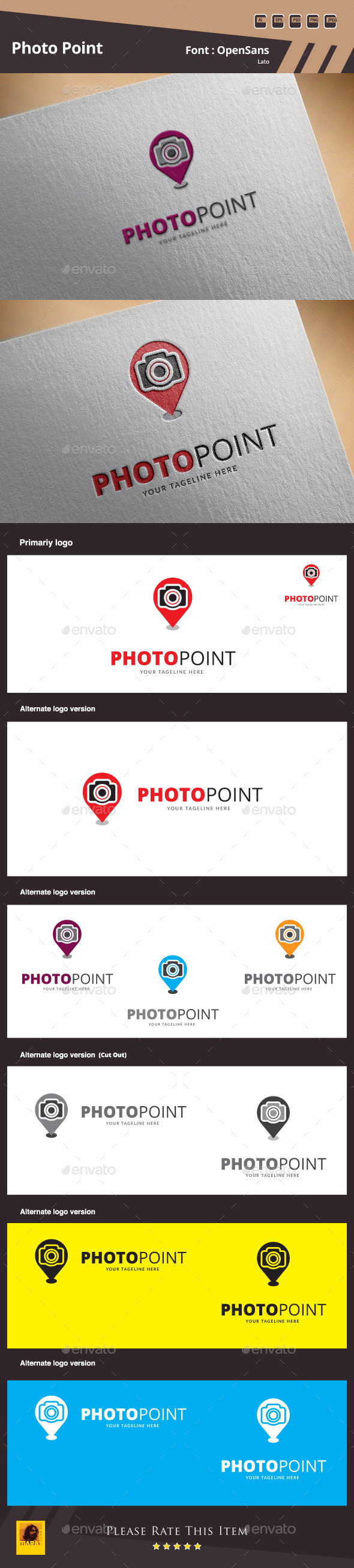 GraphicRiver Photo Point Logo Template 10185314