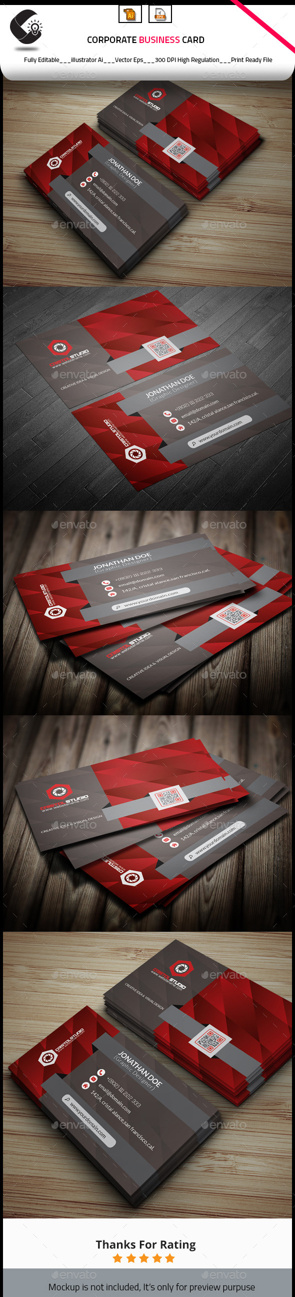 GraphicRiver Creative Modern Business Card 10185316