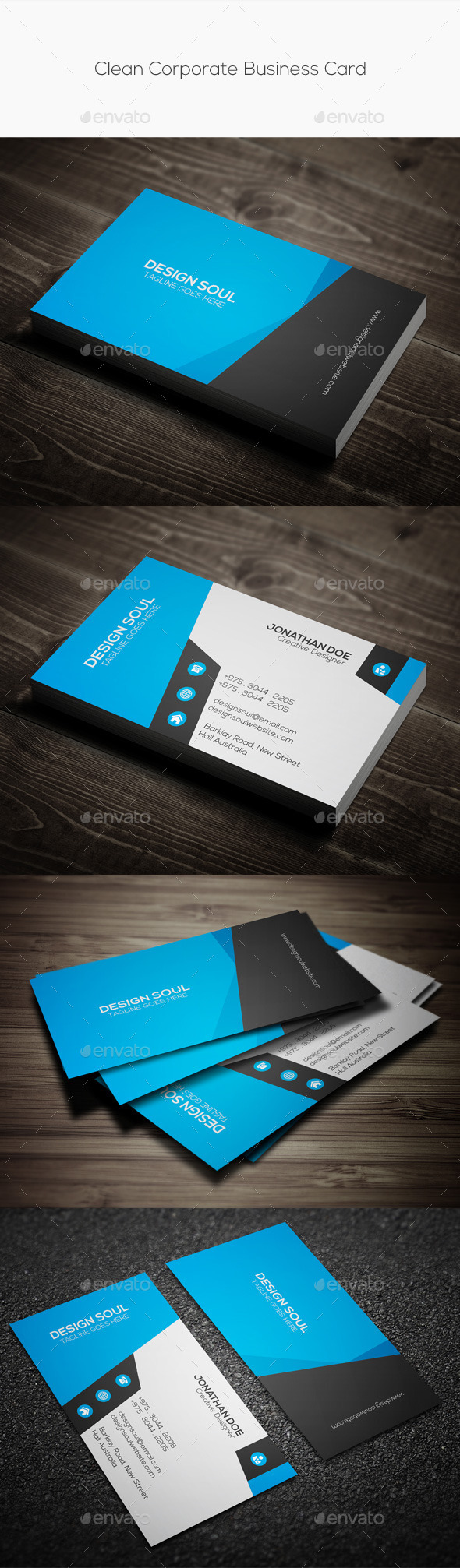 GraphicRiver Clean Corporate Business Card 10185379