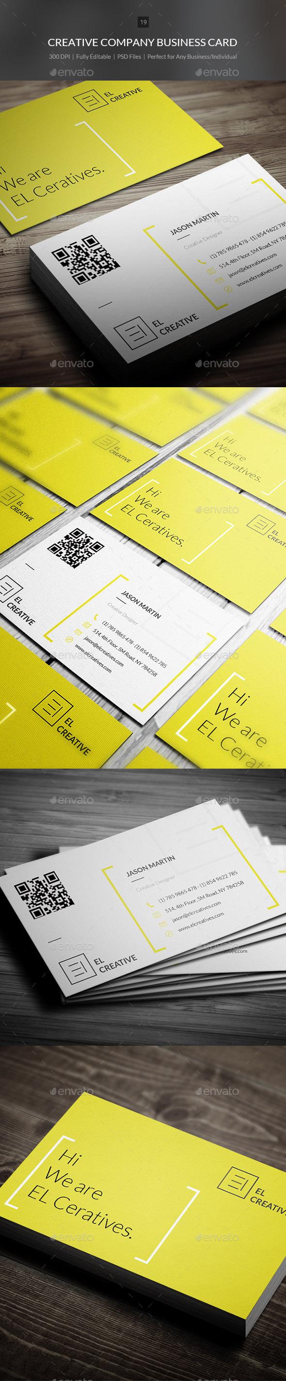 GraphicRiver Creative Company Business Card 19 10185390