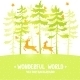 Pine and Deer - GraphicRiver Item for Sale