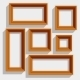 Wooden Brown Picture Frames - GraphicRiver Item for Sale