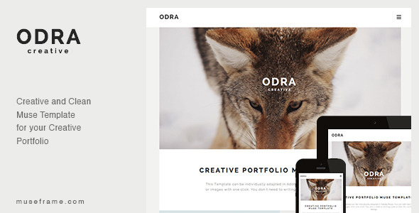 ThemeForest ODRA Creative Portfolio Muse Template 10185526