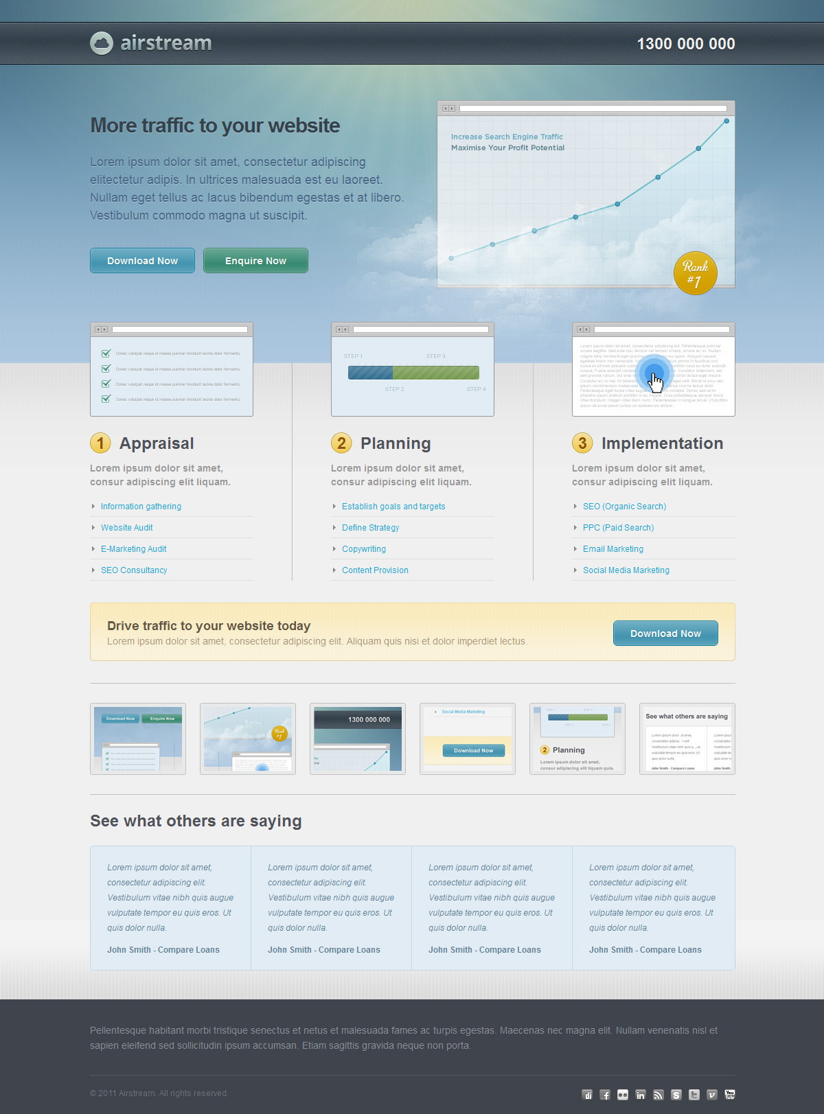 Airstream Landing Page - Screenshot 02 - Front