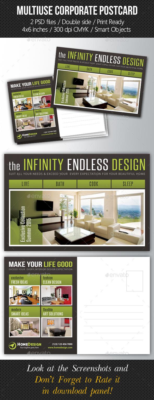 GraphicRiver Multiuse Corporate Postcard Template V02 10185986