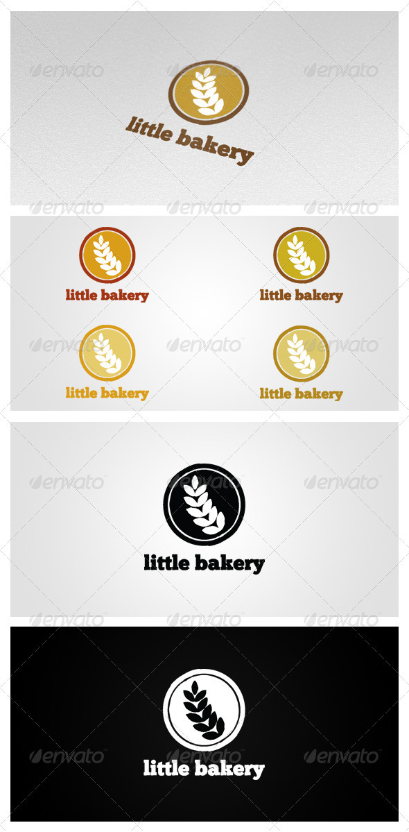 Graphic River Little Bakery Logo Templates -  Abstract  Vector 1026137