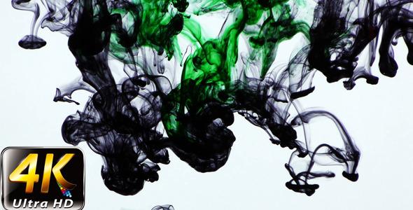 Colorful Paint Ink Drops Splash in Underwater 33