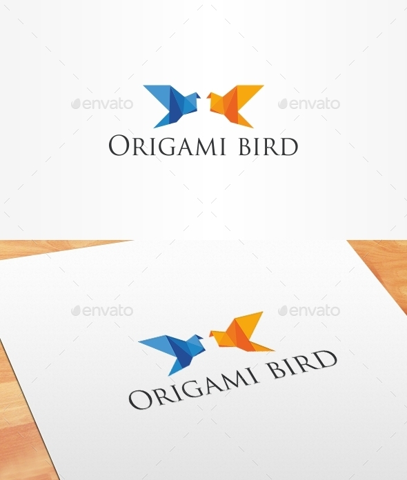 GraphicRiver Origami Bird Logo Template 10186067