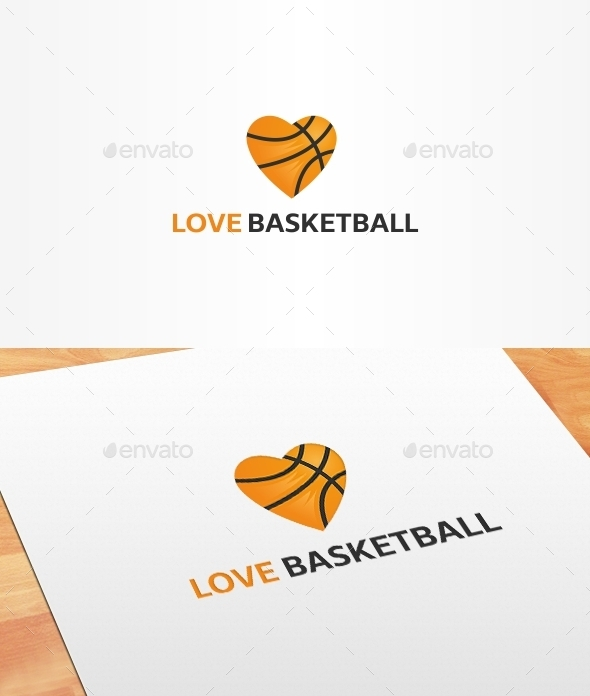 GraphicRiver Love Basketball Logo Template 10186078