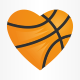 Love Basketball Logo Template - GraphicRiver Item for Sale