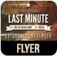 RETRO VINTAGE LAST MINUTE FLYER #1  - GraphicRiver Item for Sale