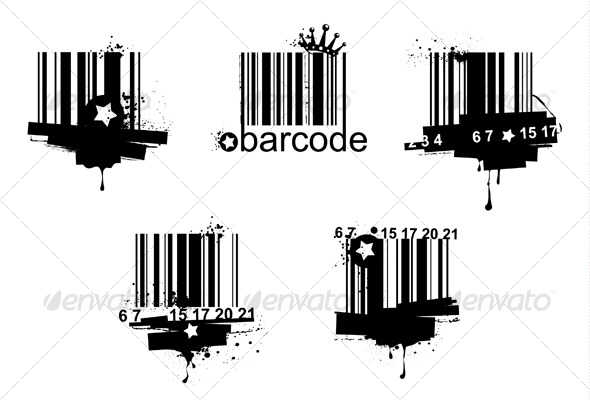 Grunge barcodes - Decorative Symbols Decorative