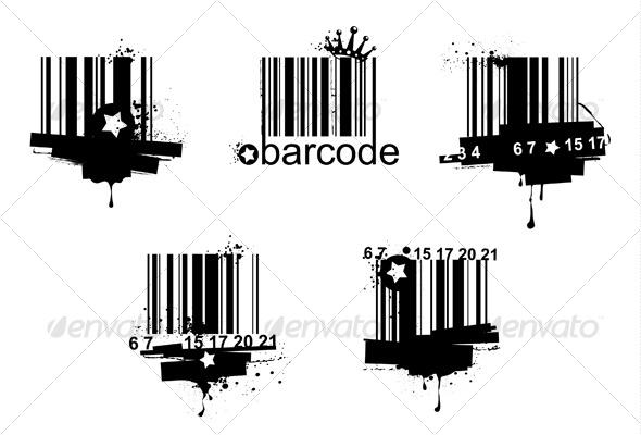 GraphicRiver Grunge barcodes 128633