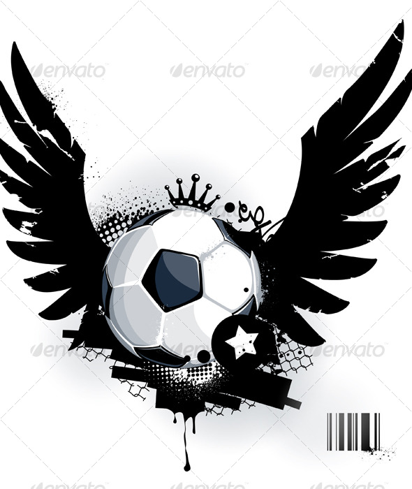 Soccer ball on dirty background - Sports/Activity Conceptual