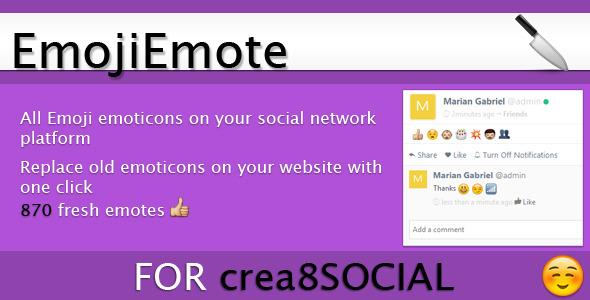 CodeCanyon EmojiEmote Addon For crea8SOCIAL 10186157