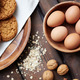 Biscuits, eggs and walnuts - PhotoDune Item for Sale