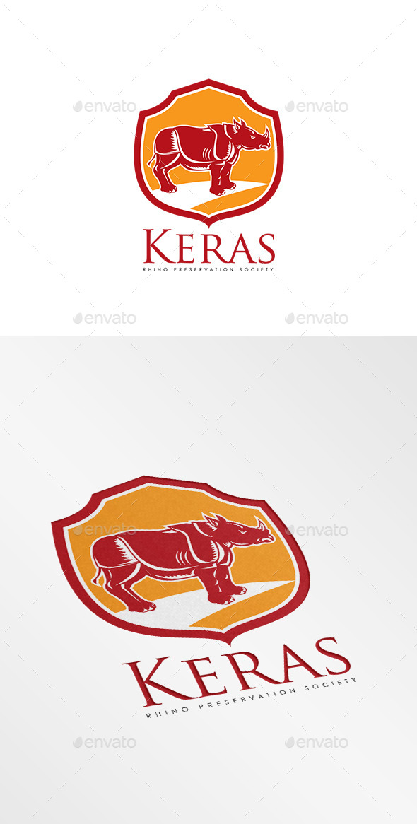 GraphicRiver Keras Rhino Preservation Logo 10186235