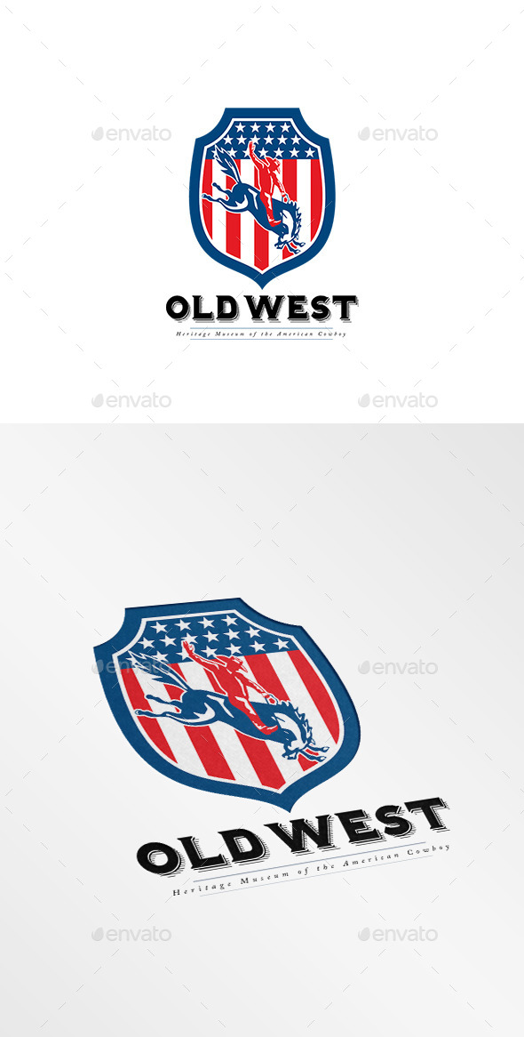 GraphicRiver Old West American Cowboy Museum Logo 10186241