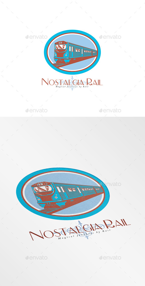 GraphicRiver Nostalgia Rail Journey Logo 10186244