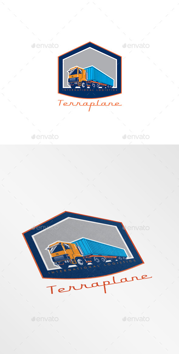 GraphicRiver Terraplane International Logistics Logo 10186245