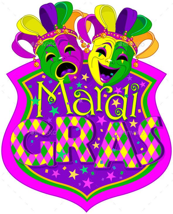 GraphicRiver Mardi Gras Masks Design 10186253