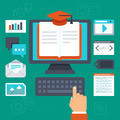 Online  education concept - PhotoDune Item for Sale