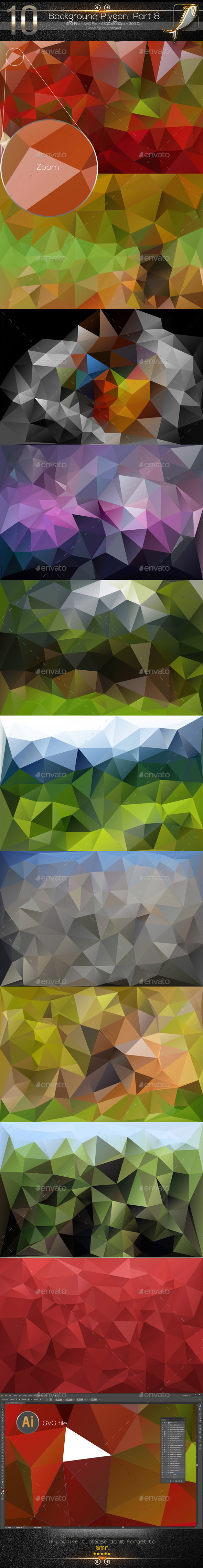GraphicRiver 10 Backgrounds Polygon Part 8 10186325