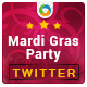 Mardi Gras Party Twitter Header - GraphicRiver Item for Sale