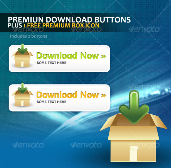 Premium Download Button Template - Buttons Web Elements