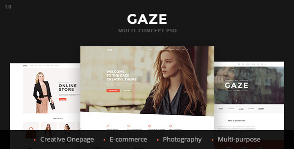 Gaze Creative Multi-Concept PSD Template