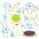 Cartoon Fun and Baby Birds Collection - GraphicRiver Item for Sale