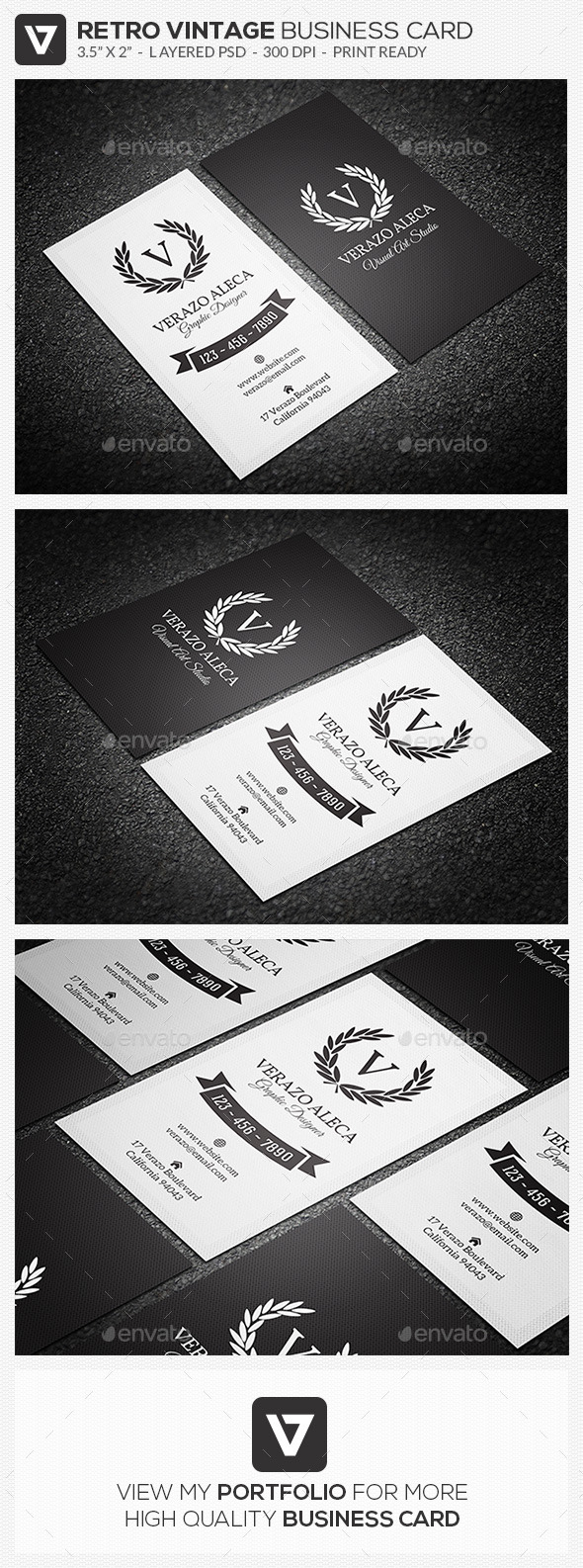 GraphicRiver Elegant Retro Vintage Business Card 04 10186425